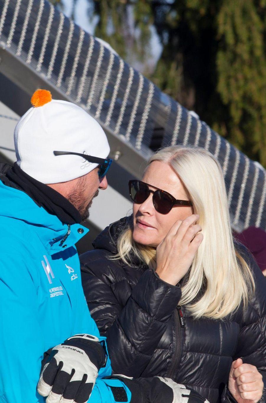 La princesse Mette-Marit et le prince Haakon de Norvège à Oslo, le 10 mars 2019