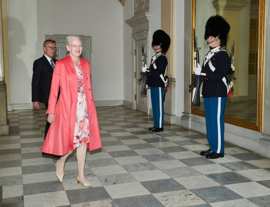 La reine Margrethe II de Danemark au château de Frederiksborg à Hillerod, le 16 juin 2020