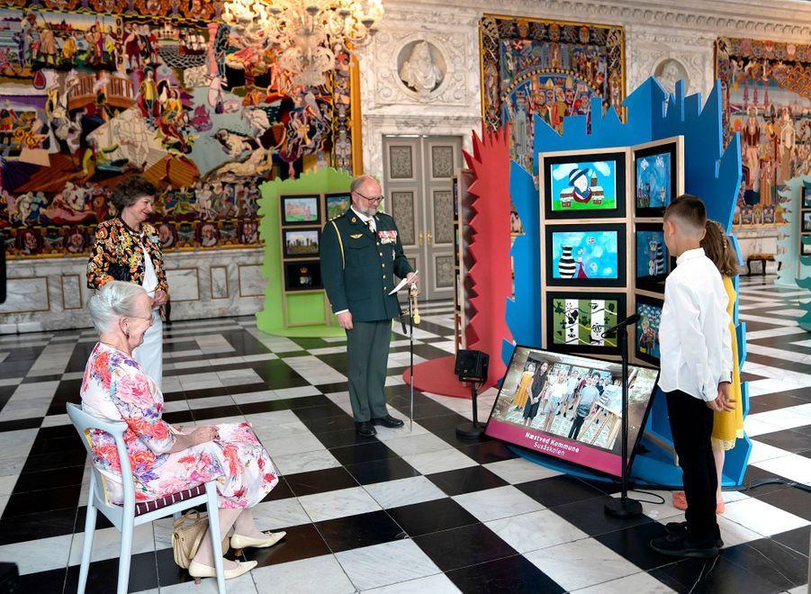 La reine Margrethe II de Danemark à Copenhague, le 16 juin 2020