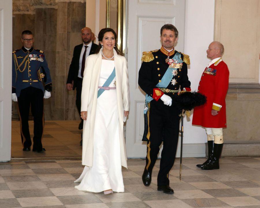La princesse Mary et le prince héritier Frederik de Danemark à Copenhague, le 2 janvier 2019
