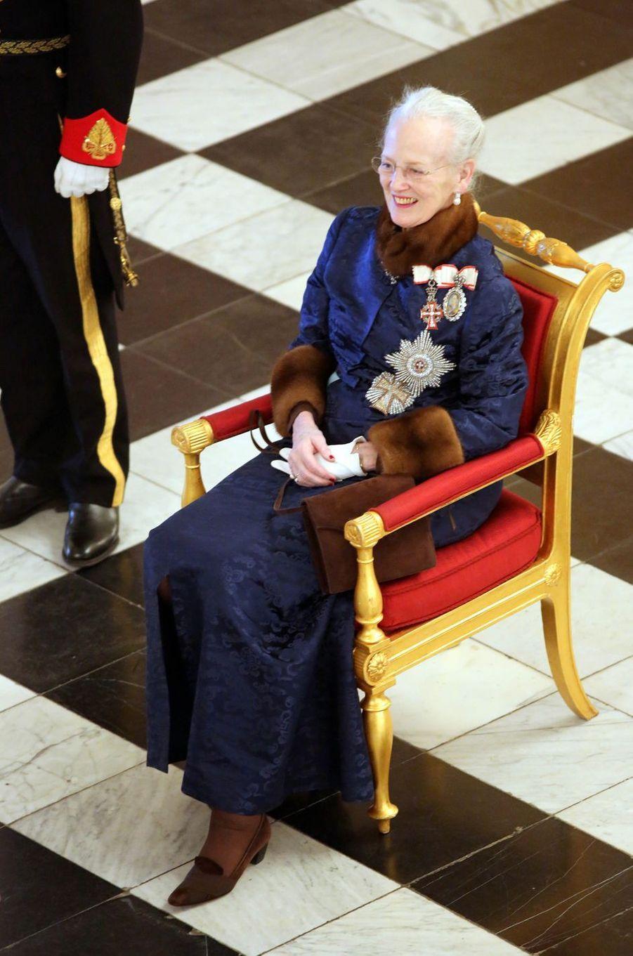 La reine Margrethe II de Danemark à Copenhague, le 2 janvier 2019