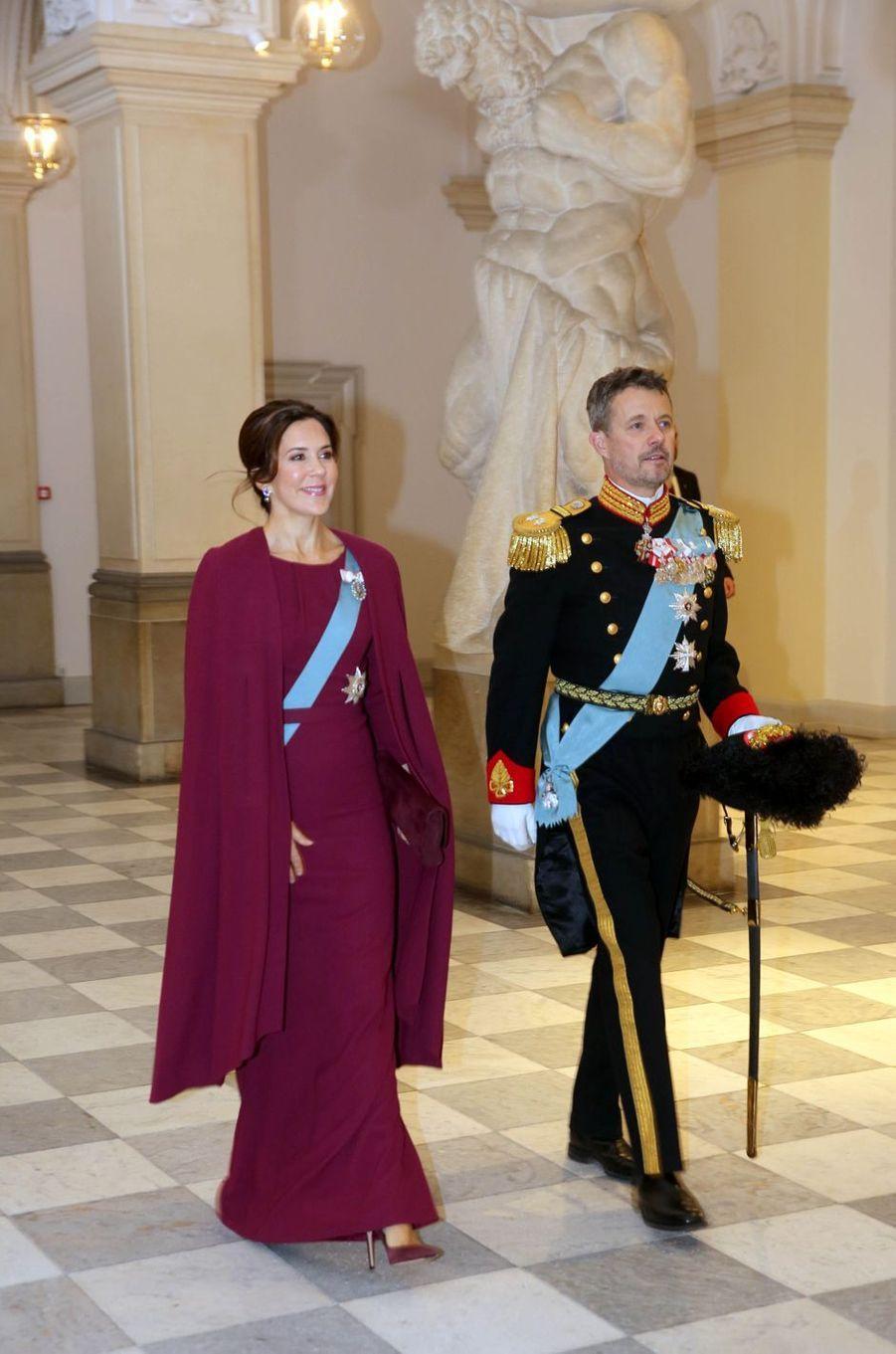 La princesse Mary et le prince héritier Frederik de Danemark à Copenhague, le 3 janvier 2019