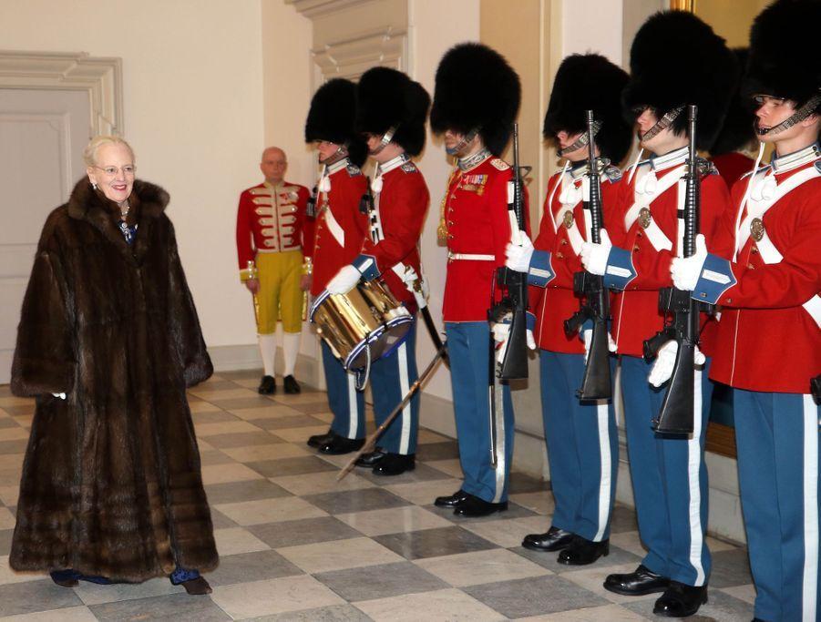 La reine Margrethe II de Danemark à Copenhague, le 3 janvier 2019