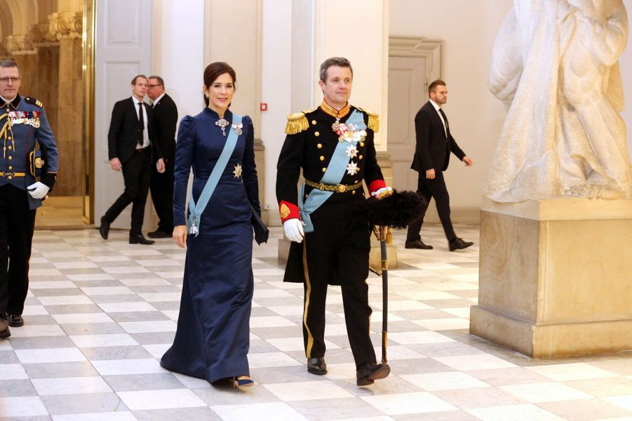 La princesse Mary et le prince Frederik de Danemark à Copenhague, le 4 janvier 2019