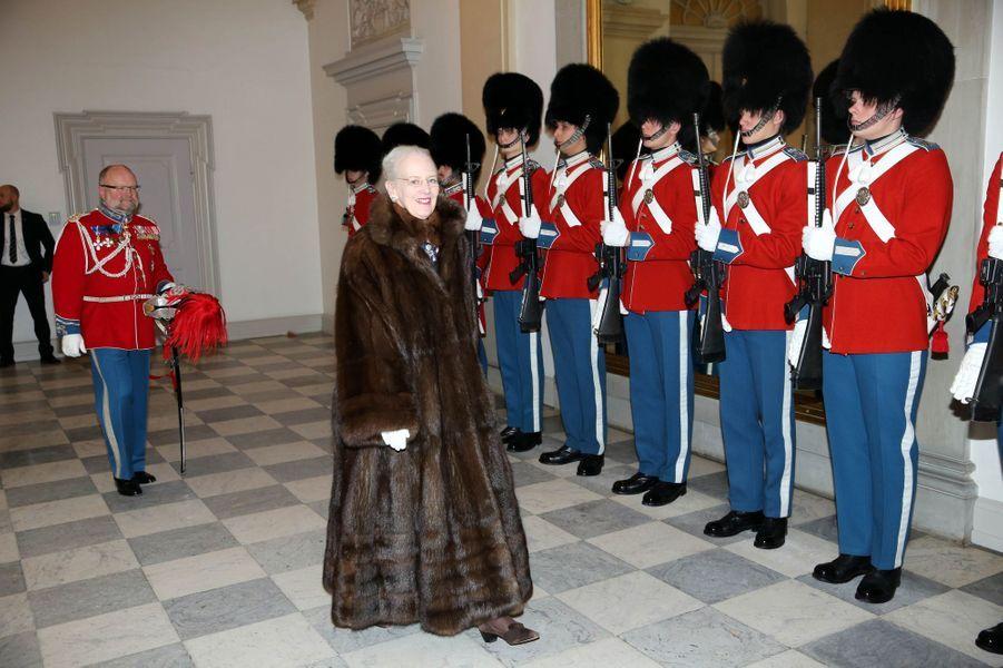 La reine Margrethe II de Danemark à Copenhague, le 4 janvier 2019
