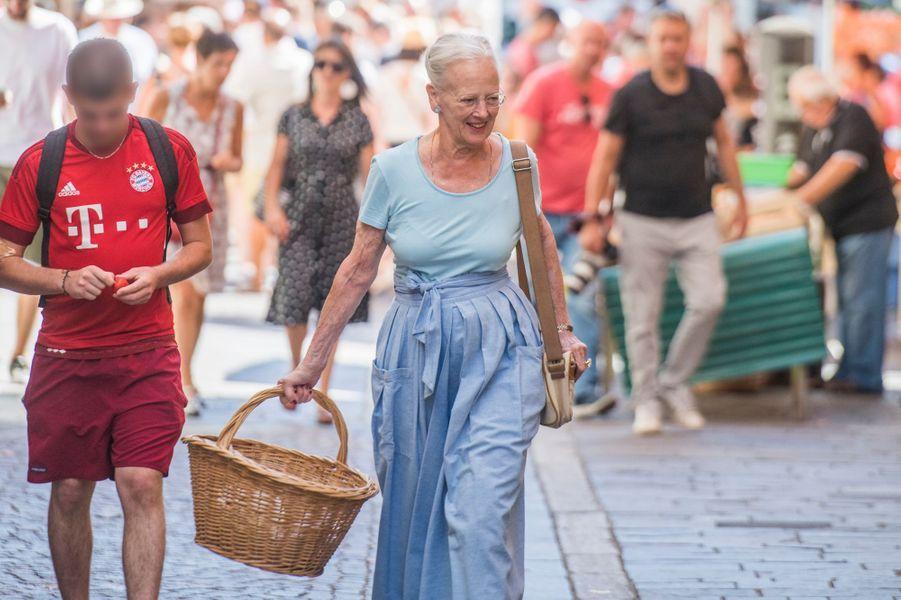 La reine Margrethe II de Danemark à Cahors, le 16 août 2018