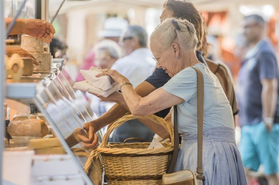 La reine du Danemark Margrethe II à Cahors, le 16 août 2018