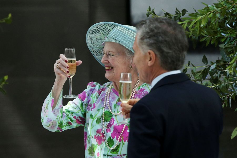 La reine Margrethe II de Danemark avec le président argentin Mauricio Macri à Buenos Aires, le 18 mars 2019