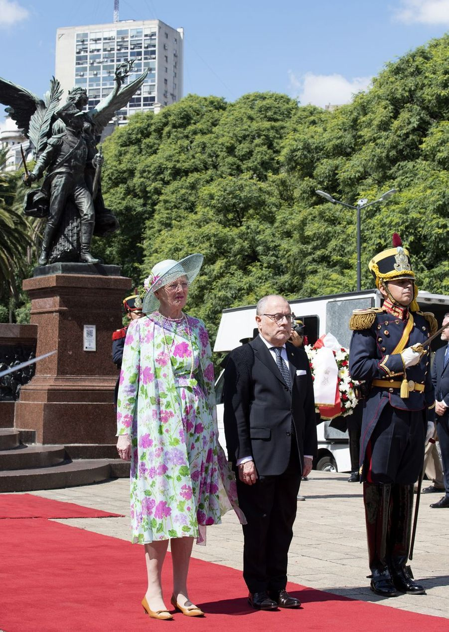 La reine Margrethe II de Danemark à Buenos Aires en Argentine, le 18 mars 2019