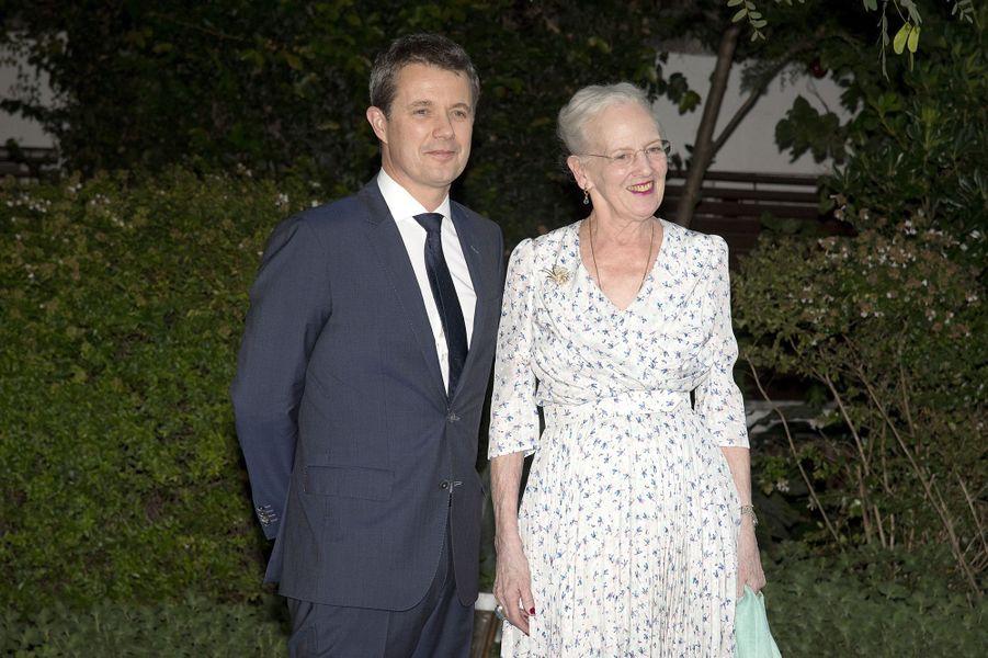 La reine Margrethe II et le prince Frederik de Danemark à Buenos Aires, le 18 mars 2019