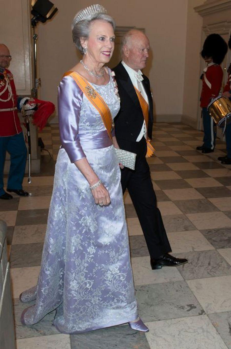 La princesse Benedikte de Danemark et son mari le prince Richard de Sayn-Wittgenstein-Berleburg à Copenhague, le 17 mars 2015