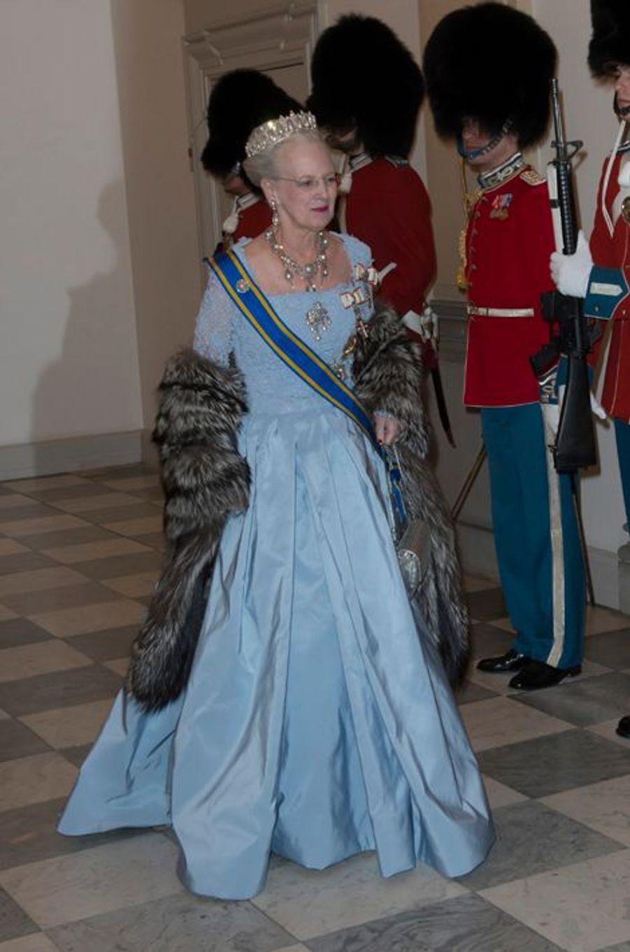 La reine Margrethe II de Danemark à Copenhague le 17 mars 2015