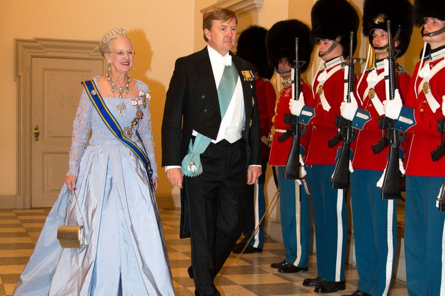 La reine Margrethe II de Danemark et le roi Willem-Alexander des Pays-Bas à Copenhague, le 17 mars 2015