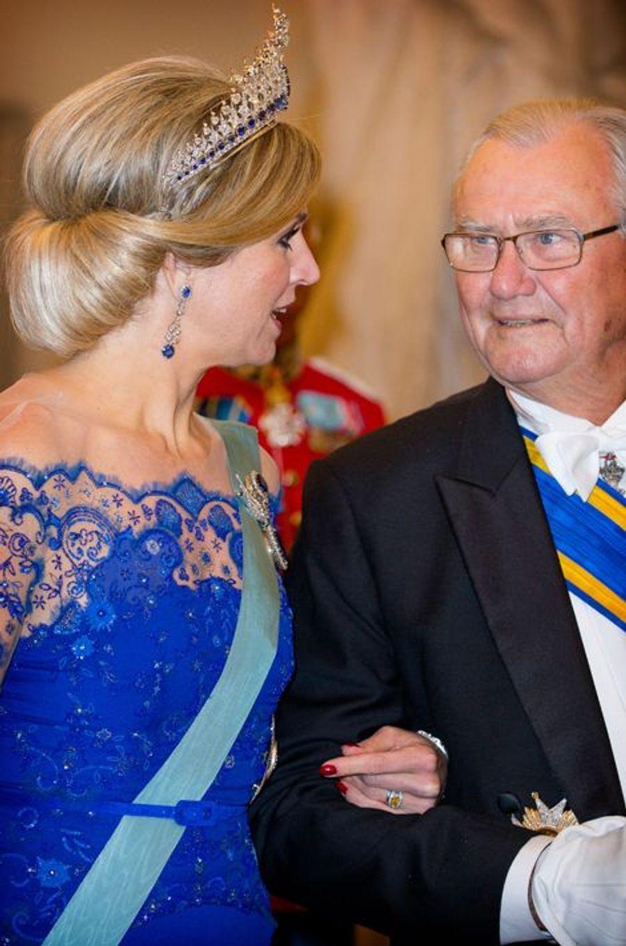 La reine Maxima des Pays-Bas et le prince consort Henrik de Danemark à Copenhague, le 17 mars 2015