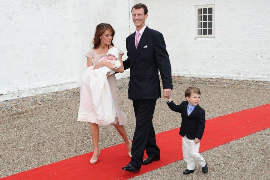 Le prince Henrik de Danemark avec ses parents et sa soeur, le 20 mai 2012