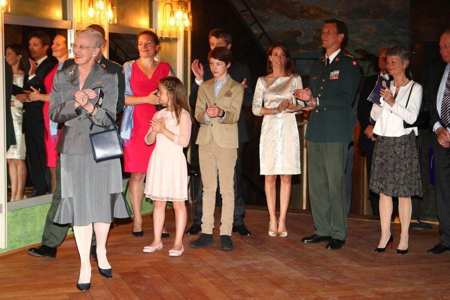 La famille royale de Danemark à Copenhague, le 20 mai 2016