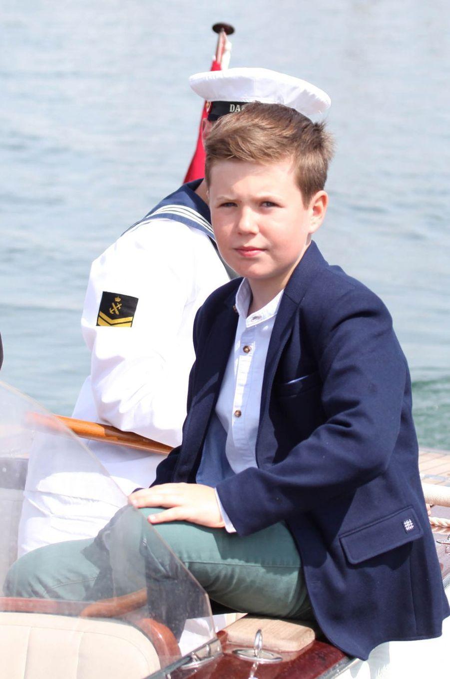 Le prince Christian de Danemark à Skovshoved, le 22 mai 2016
