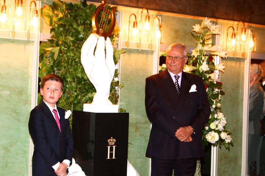 Les princes Christian et Henrik de Danemark à Copenhague, le 20 mai 2016