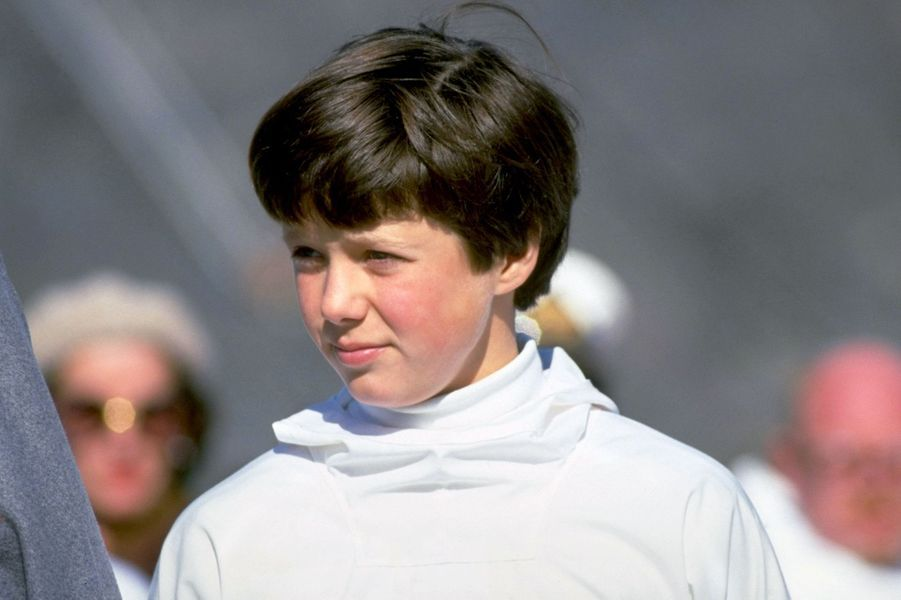 Le prince Frederik de Danemark en 1982