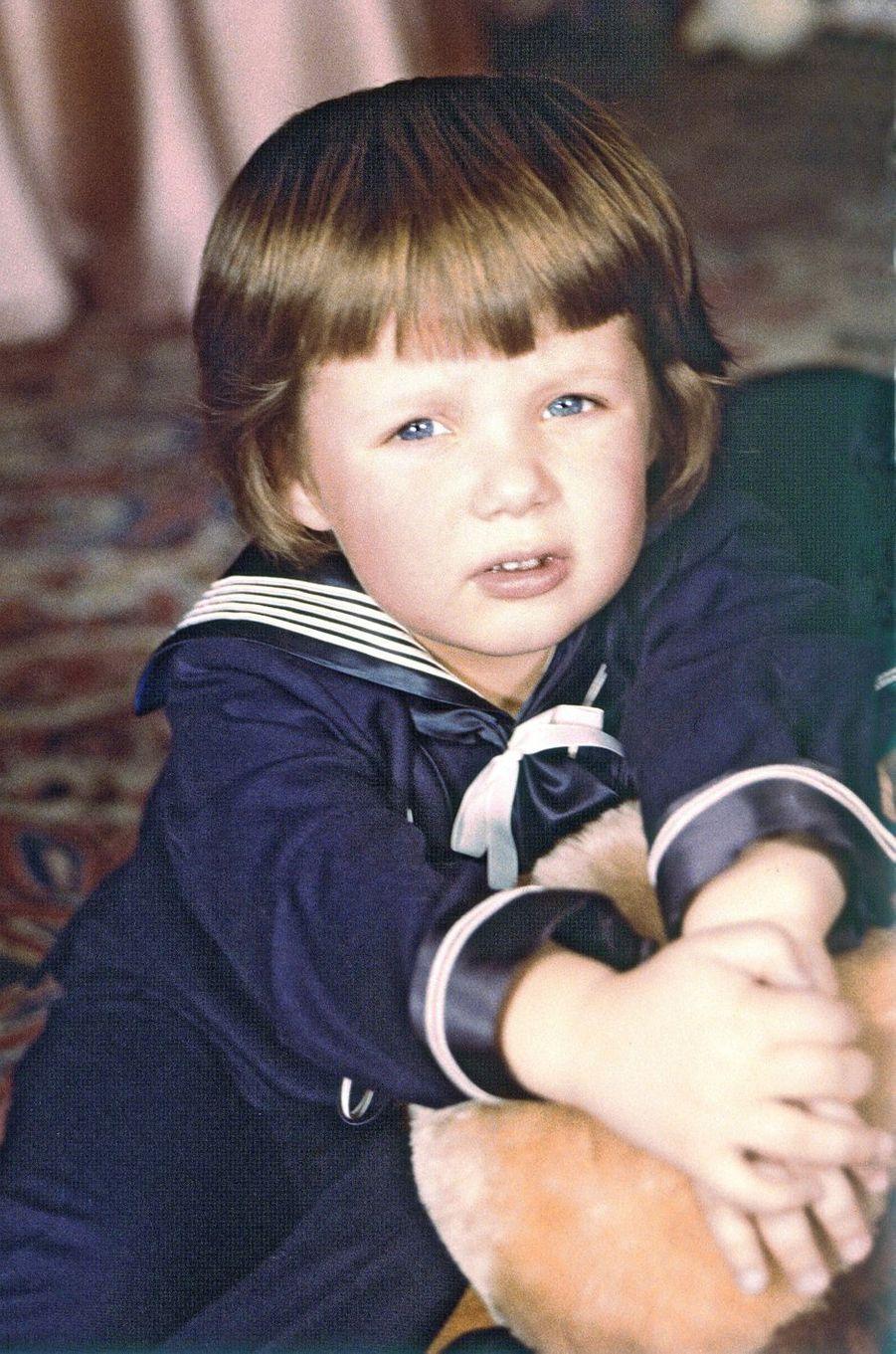 Le prince Frederik de Danemark le 1er janvier 1971