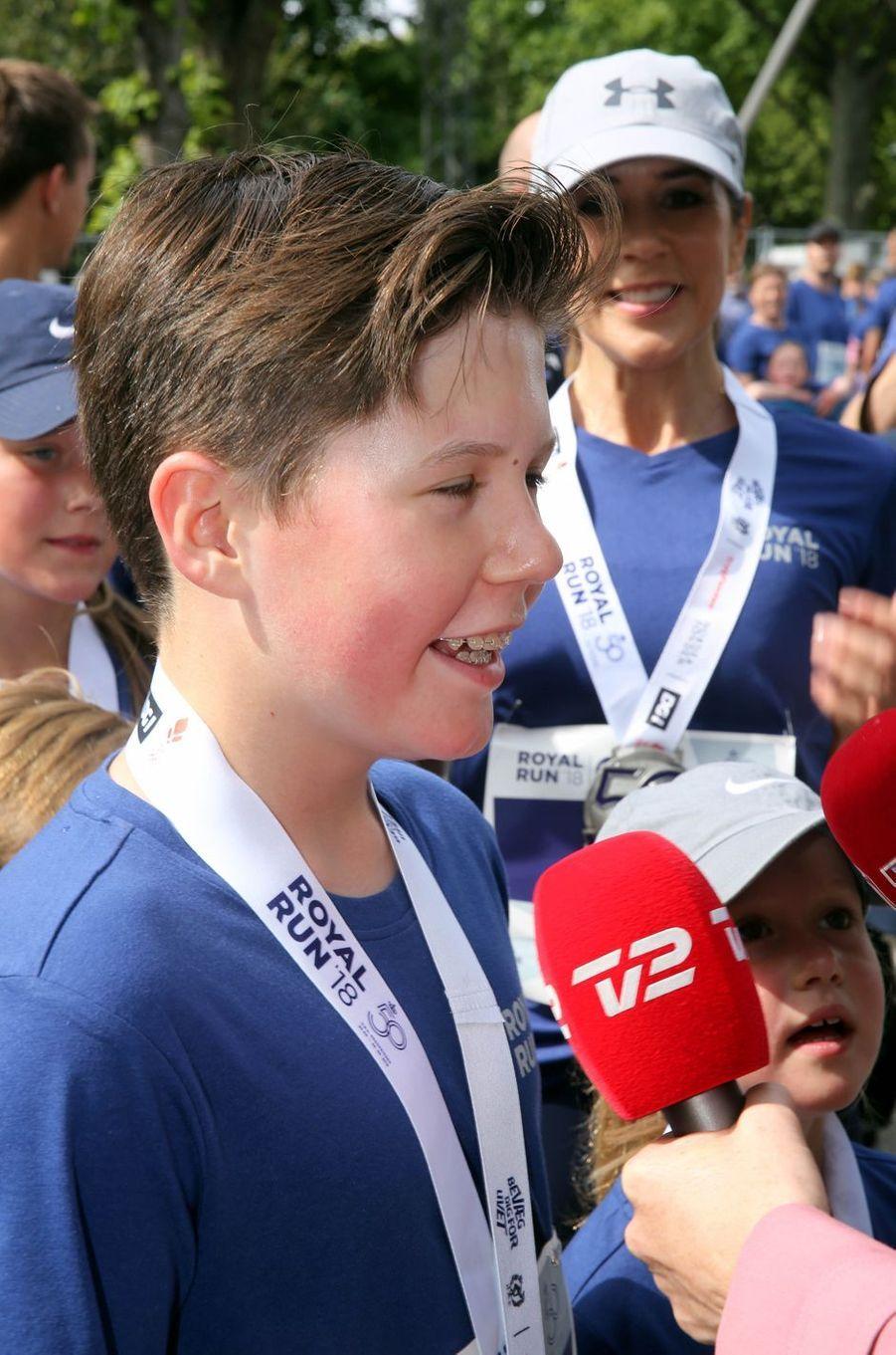 Le prince Christian de Danemark à la Royal Run à Copenhague, le 21 mai 2018