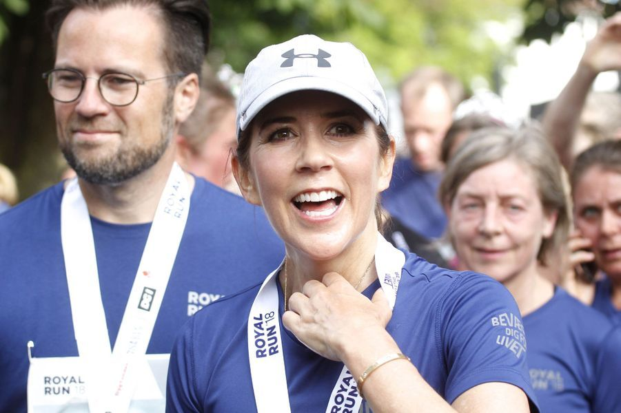 La princesse Mary de Danemark à la Royal Run à Odense, le 21 mai 2018