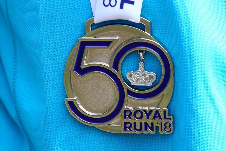 La médaille de la Royal Run, le 21 mai 2018