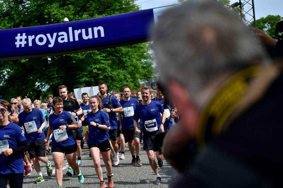 Le prince Frederik de Danemark à la Royal Run à Aarhus, le 21 mai 2018