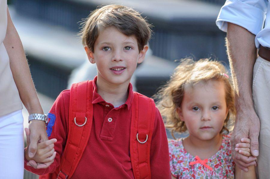 Le prince Henrik et la princesse Athena de Danemark à Copenhague, le 14 août 2015