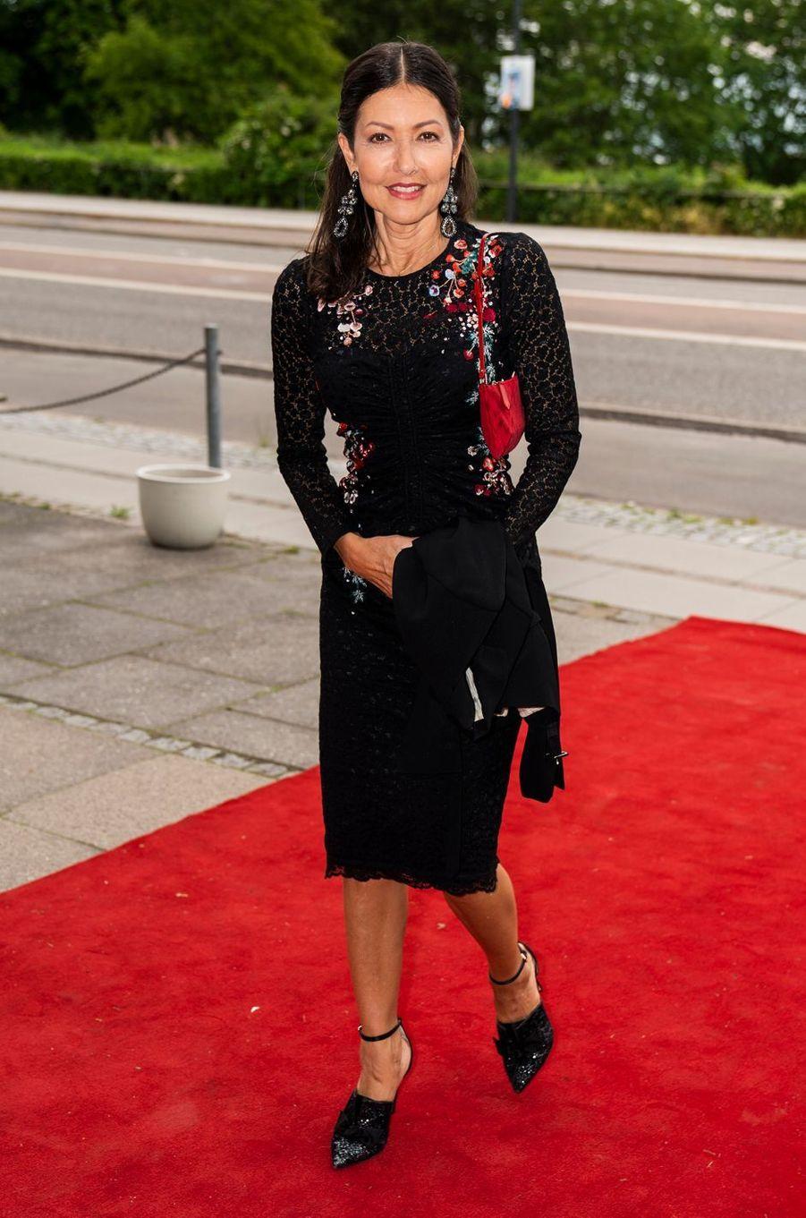 La comtesse Alexandra, ex-femme du prince Joachim de Danemark, à Klampenborg le 3 juin 2019