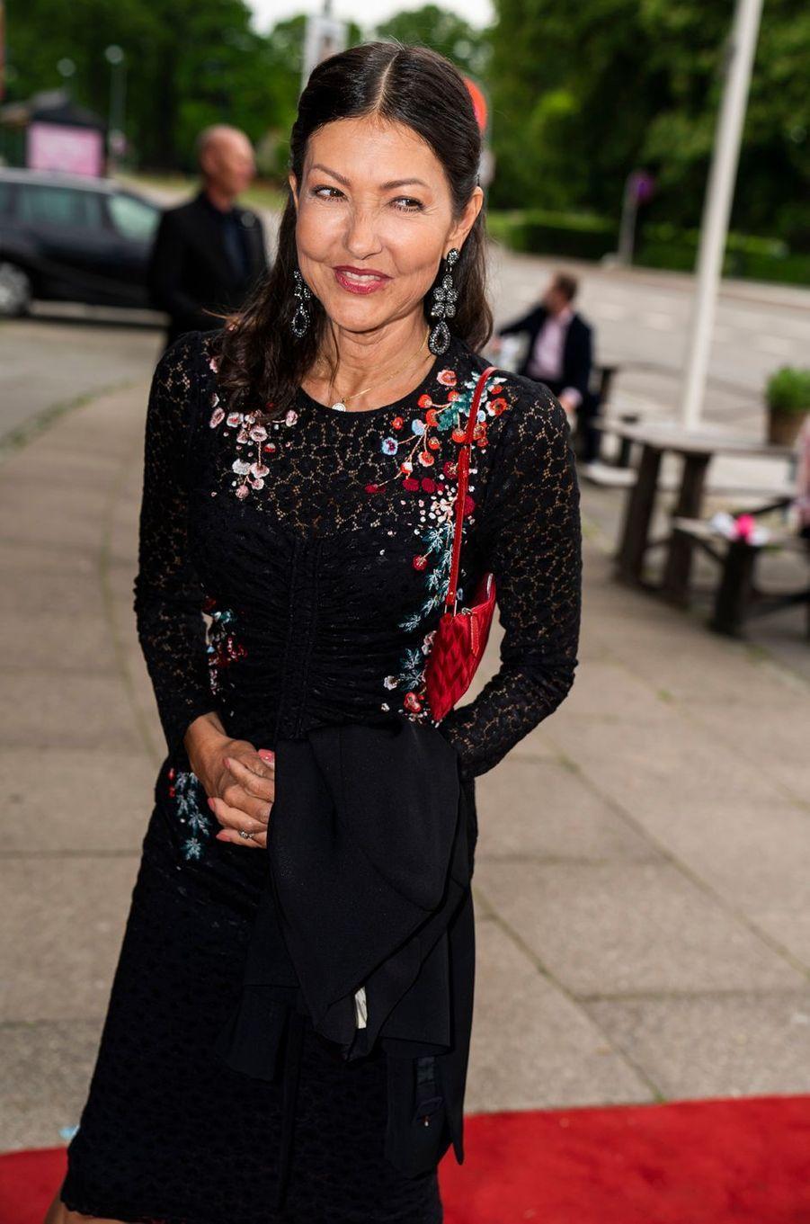 Alexandra Manley, ex-femme du prince Joachim de Danemark, à Klampenborg le 3 juin 2019