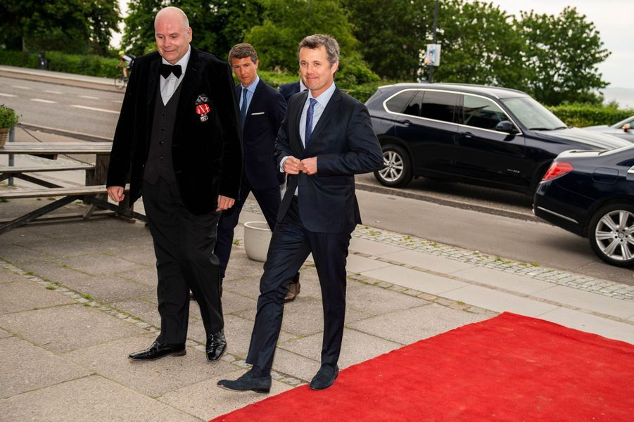 Le prince héritier Frederik de Danemark, à Klampenborg le 3 juin 2019