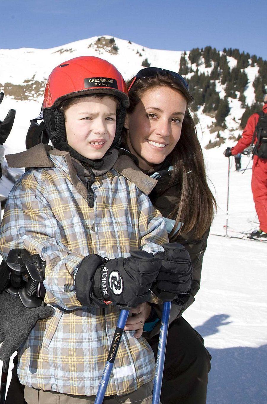 Le prince Nikolai de Danemark avec sa belle-mère la princesse Marie, le 10 février 2005