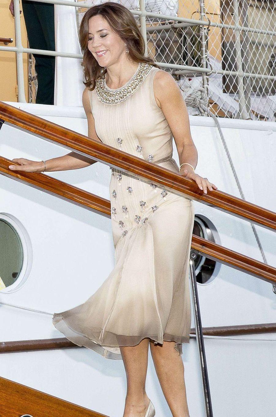La princesse Mary de Danemark à Copenhague, le 28 août 2017