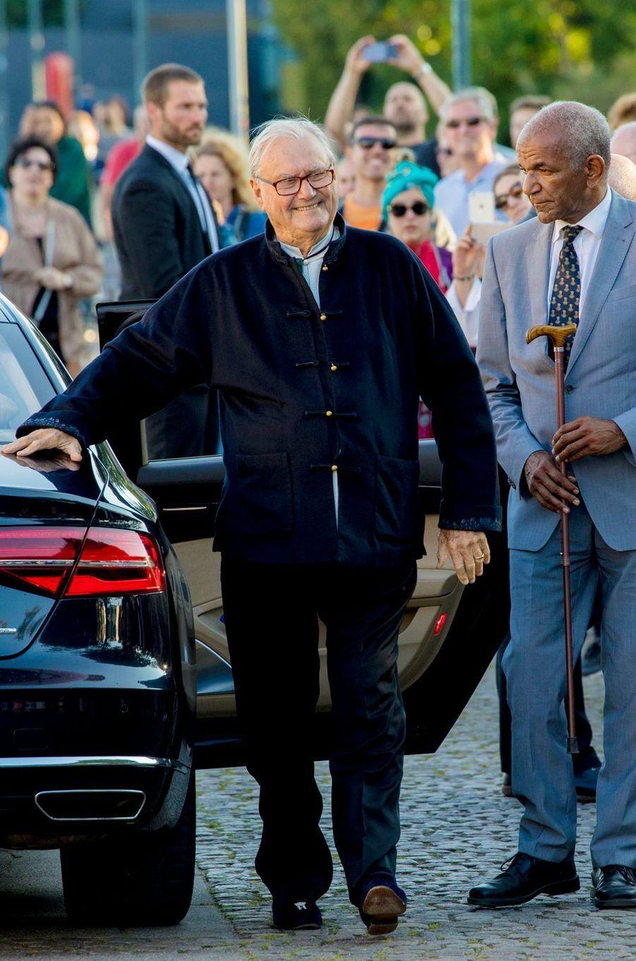 Le prince consort Henrik de Danemark à Copenhague, le 28 août 2017