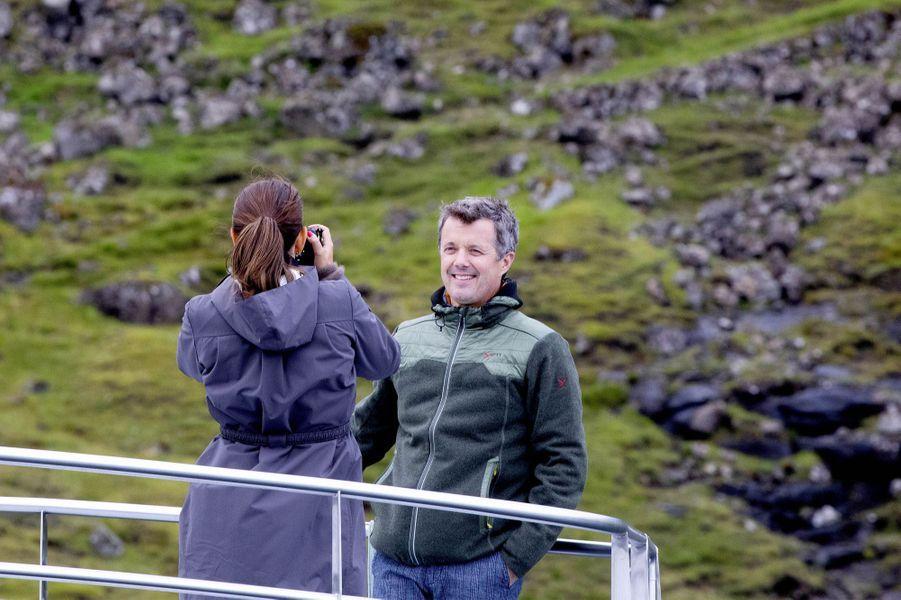 La princesse Mary et le prince Frederik de Danemark aux îles Féroé, le 25 août 2018