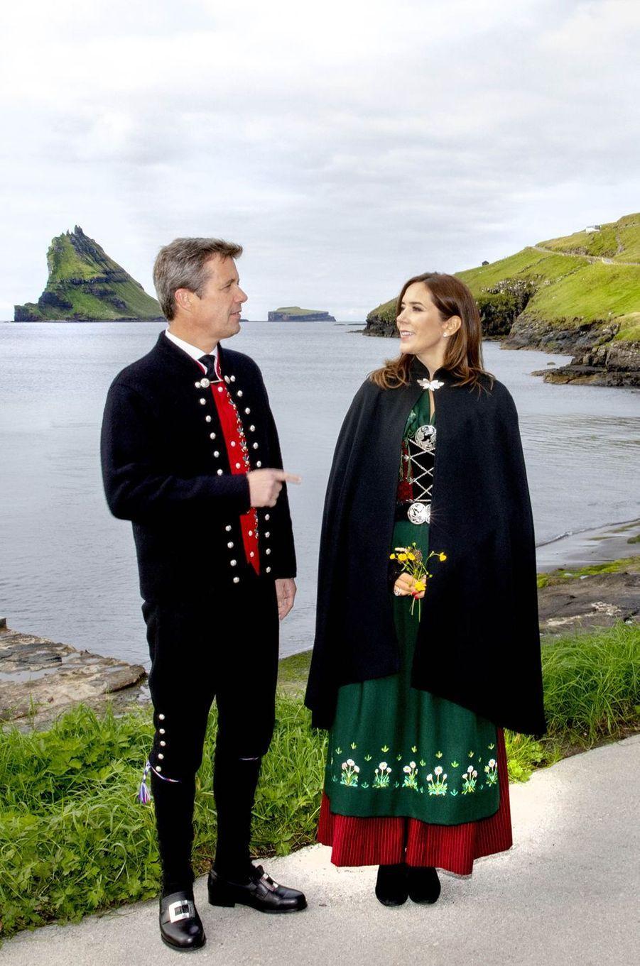 La princesse Mary et le prince Frederik de Danemark aux îles Féroé, le 26 août 2018