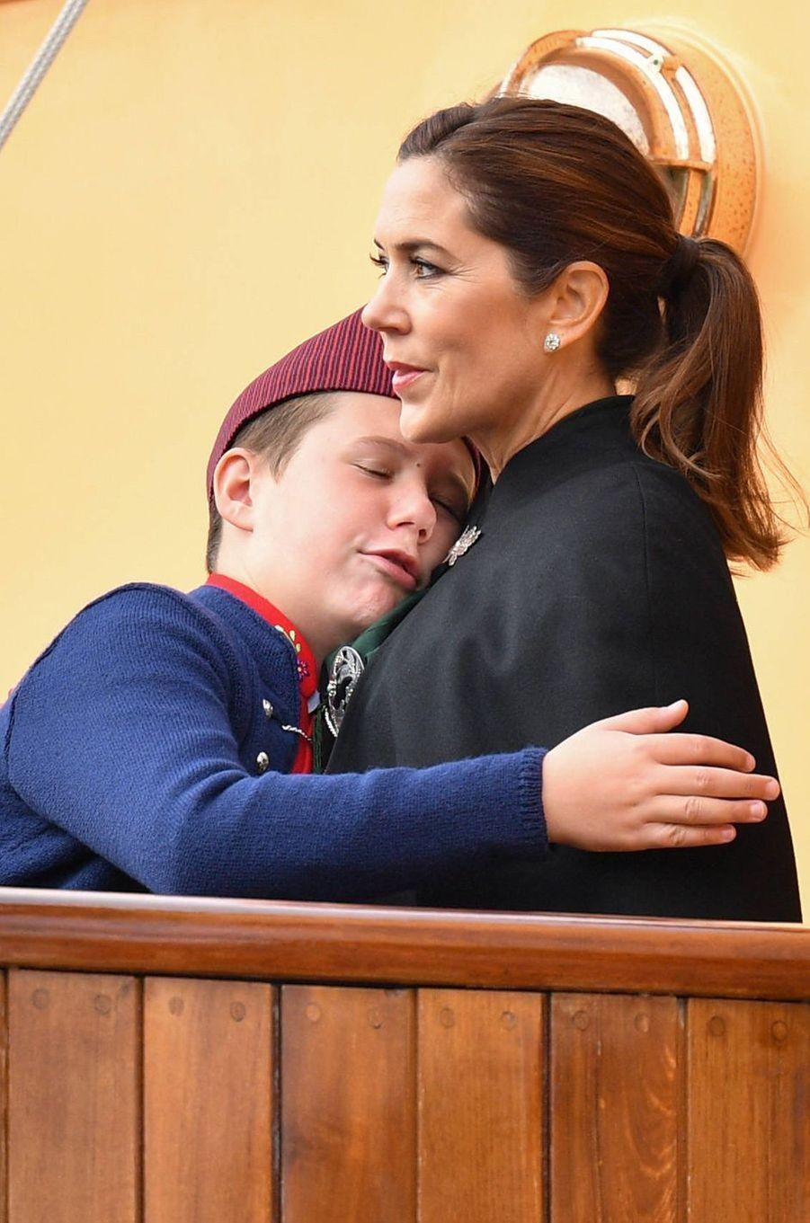 La princesse Mary et le prince Christian de Danemark aux îles Féroé, le 25 août 2018