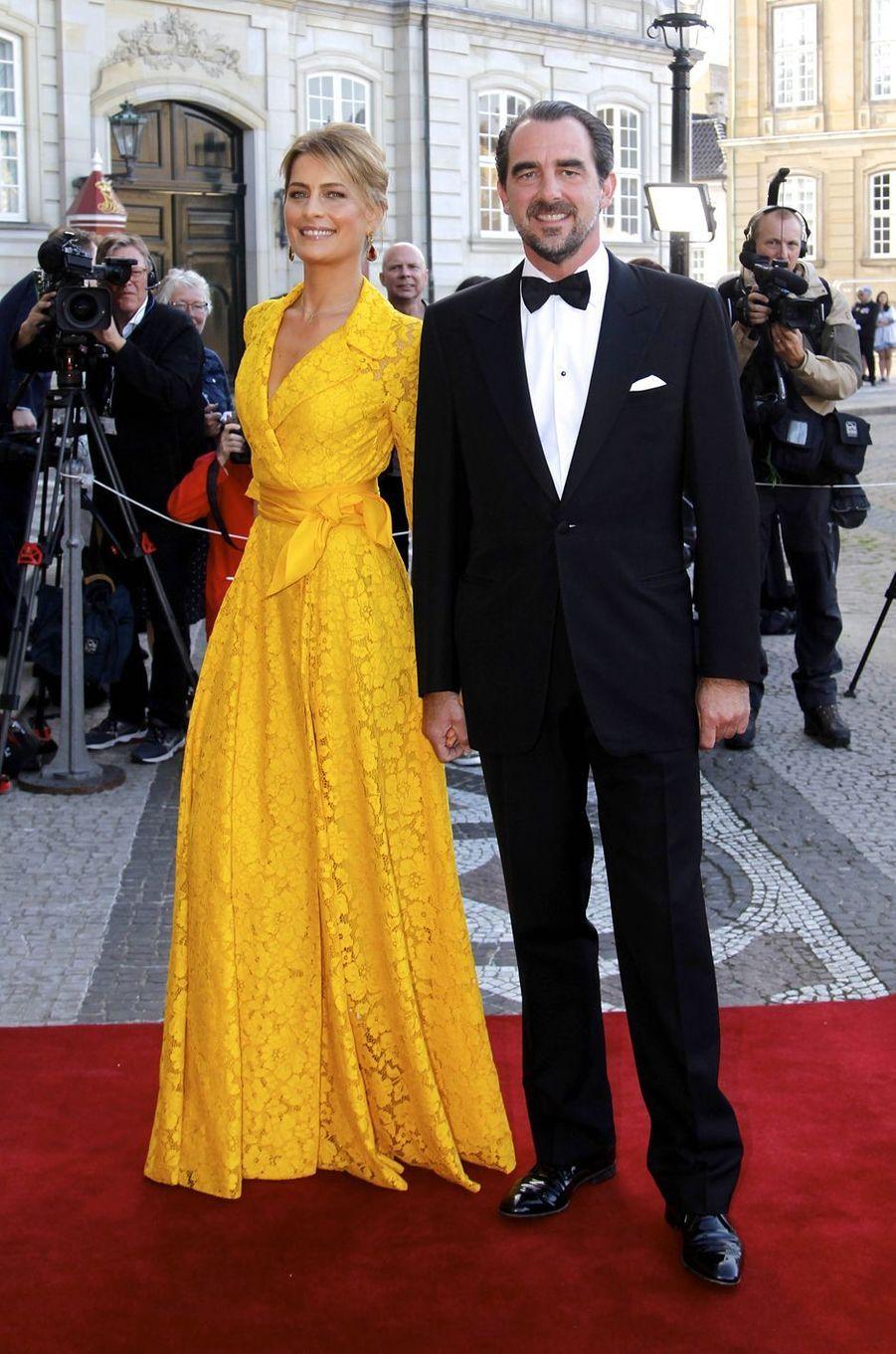 Le prince Nikolaos de Grèce et la princesse Tatiana, à Copenhague le 7 juin 2019