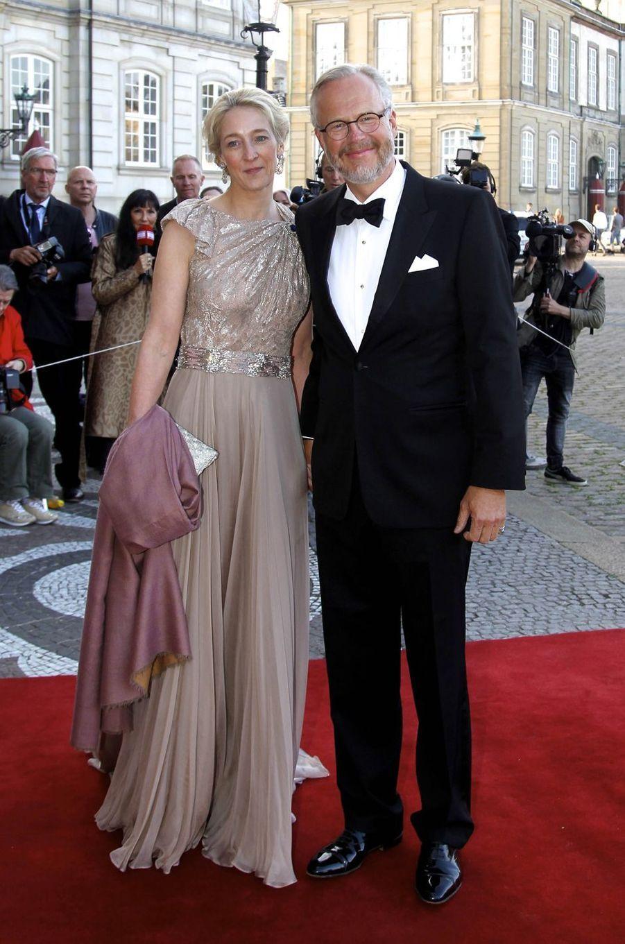 La princesse Alexandra von Sayn-Wittgenstein-Berleburg et son mari le comte Michael Ahlefeldt-Laurvig-Bille, à Copenhague le 7 juin 2019