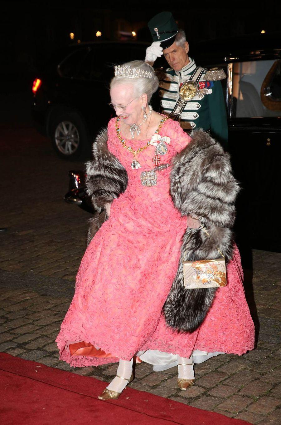 La reine Margrethe II de Danemark à Copenhague, le 1er janvier 2019