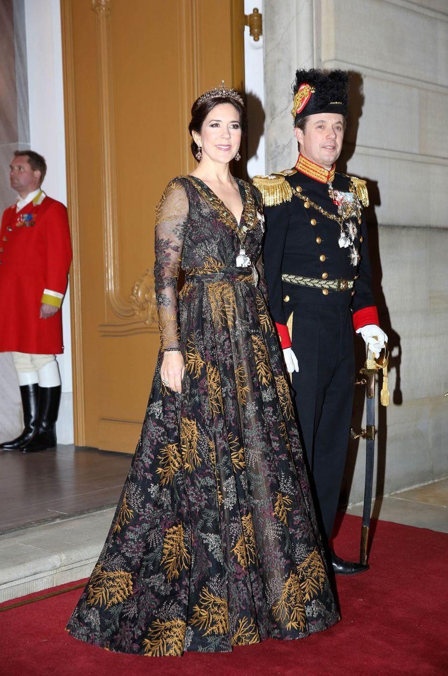 La princesse Mary et le prince Frederik de Danemark à Copenhague, le 1er janvier 2019