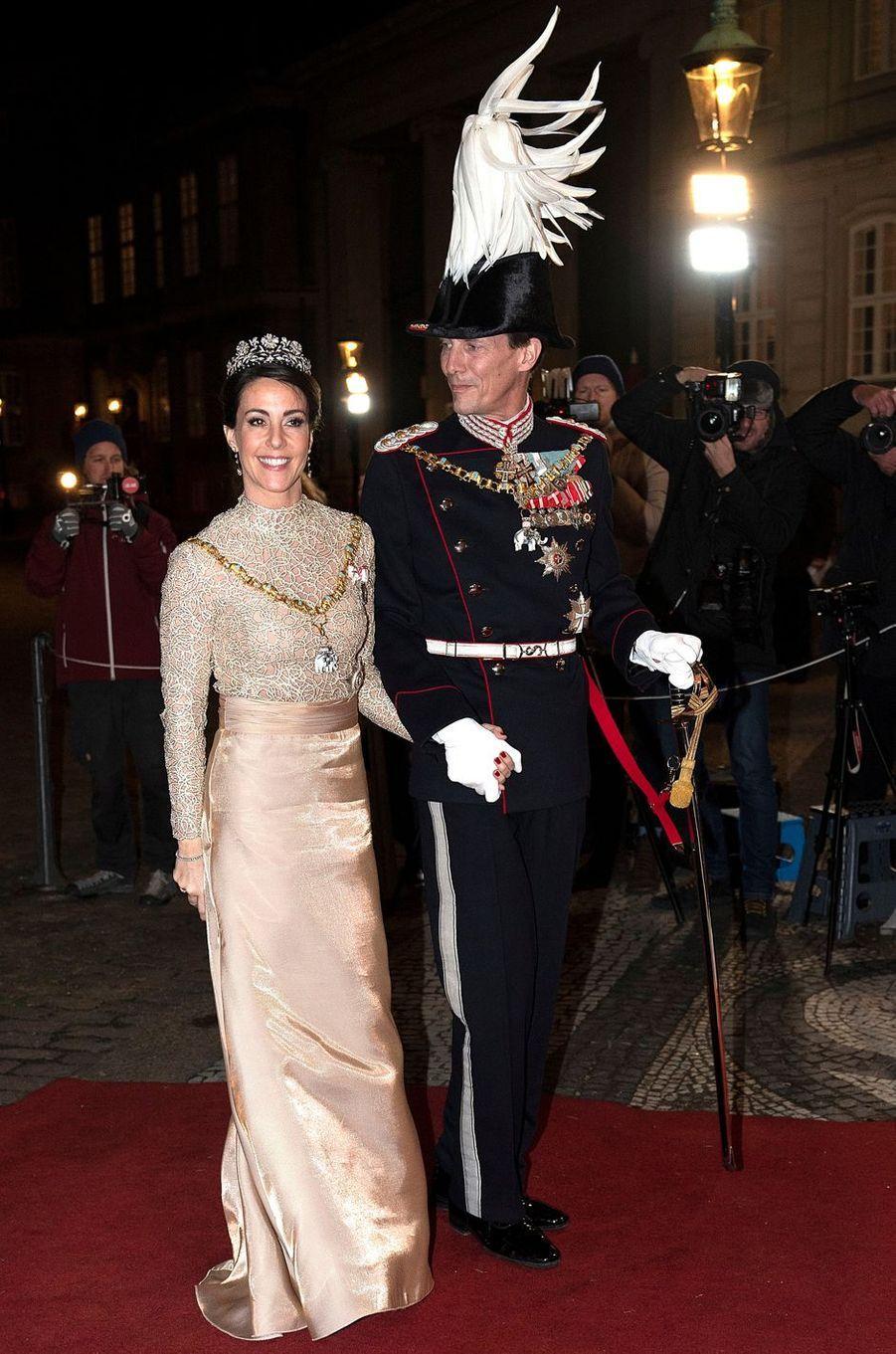 La princesse Marie et le prince Joachim de Danemark à Copenhague, le 1er janvier 2019