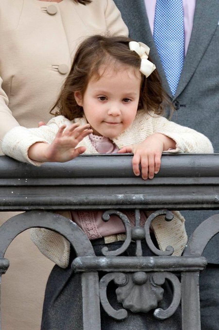 La princesse Athena de Danemark à Copenhague, le 16 avril 2016