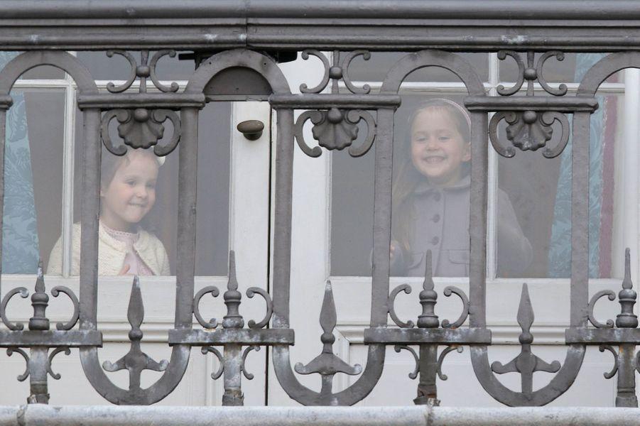 Les princesses Athena et Joséphine de Danemark à Copenhague, le 16 avril 2016