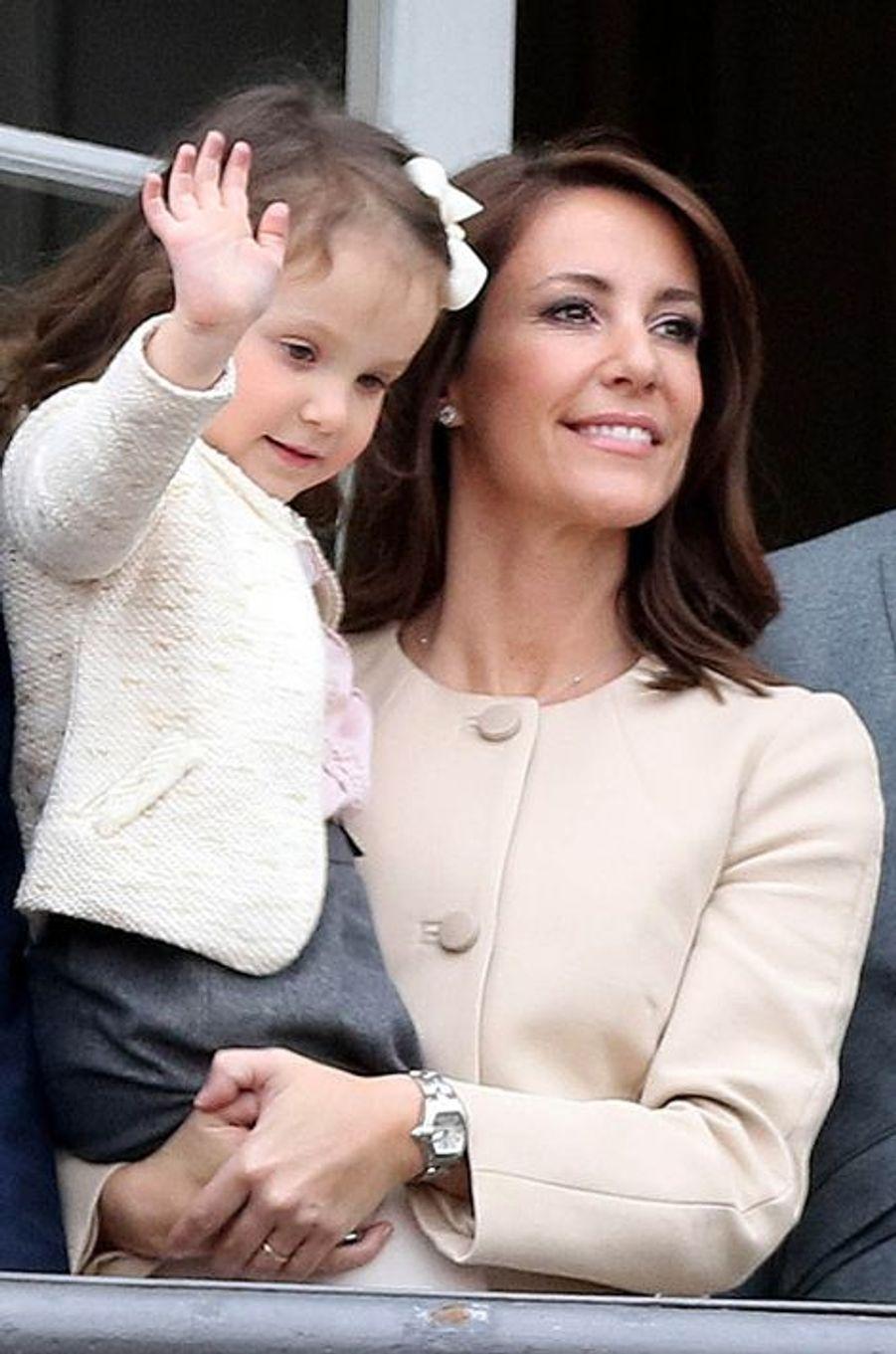 Les princesses Marie et Athena de Danemark à Copenhague, le 16 avril 2016