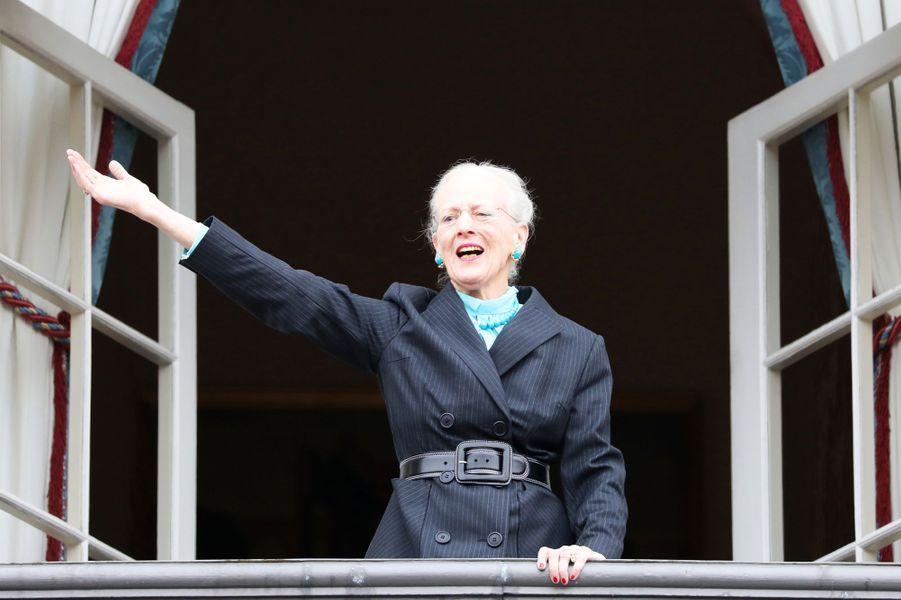 La reine Margrethe II de Danemark à Copenhague, le 16 avril 2018
