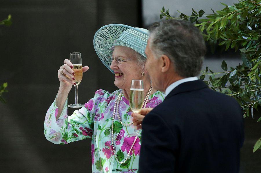 La reine Margrethe II de Danemark avec Mauricio Macri à Buenos Aires en Argentine, le 18 mars 2019