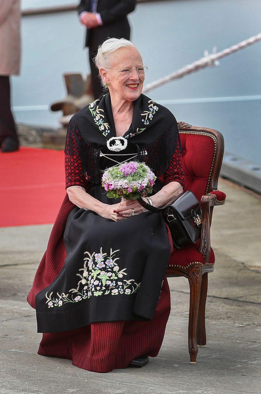 La reine Margrethe II de Danemark aux îles Féroé, le 14 juin 2016