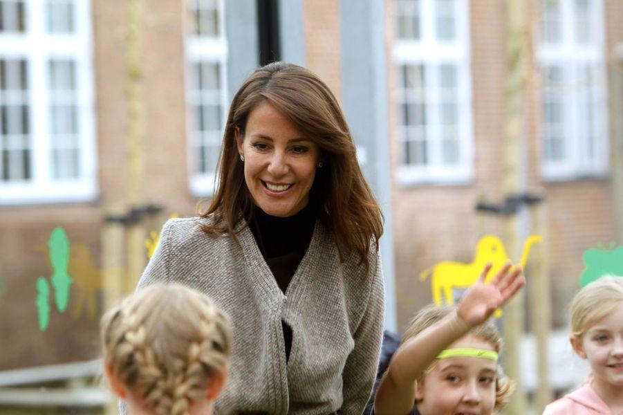 La princesse Marie de Danemark à Odense, le 5 avril 2018